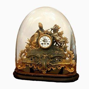 Reloj francés antiguo de bronce