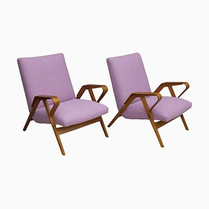 Beech and Bentwood Armchairs by František Jirák for Tatra, 1960s, Set of 2
