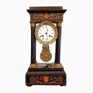 Antike französische Uhr aus Buche, 1820