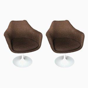 Chaises Pivotantes en Laine par Eero Saarinen pour Knoll International, 1990s, Set de 2