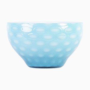 Cuenco de cristal de Bohemia azul de Max Kannegiesser para Egermann, años 60