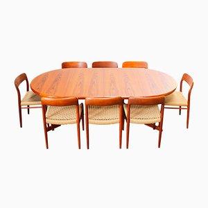 Set da pranzo nr. 75 di Niels Otto Møller, anni '50