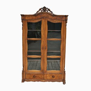 Antique Louis Philippe Style German Display Cabinet
