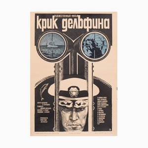 Vintage USSR Navy Ocean Poster, 1987