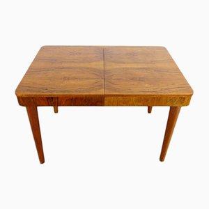 Mesa de comedor extensible vintage de madera de Jindřich Halabala para UP Závody, años 30