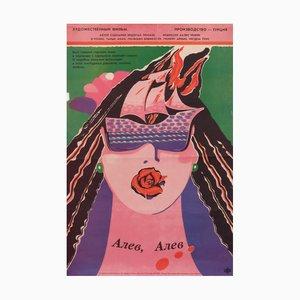 Affiche de Film Girl Vintage, Russie, 1991