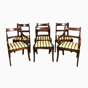 Mahogany Chairs, 1980s, Set of 6