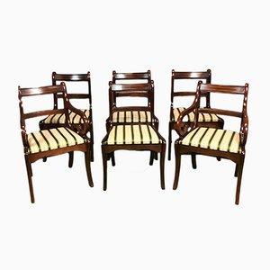 Stühle aus Mahagoni, 1980er, 6er Set
