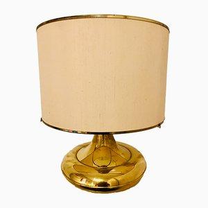 Lampada da tavolo vintage in ottone dorato, Francia, anni '70