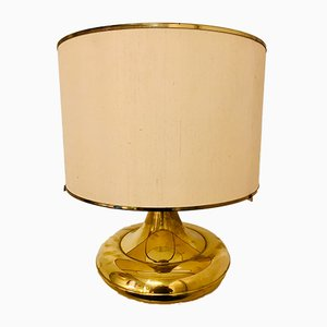 Vintage French Golden Brass Table Lamp, 1970s