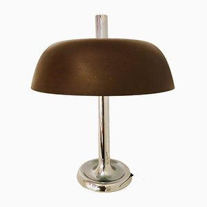 German Metal Table Mushroom Lamp by Egon Hillebrand for Hillebrand Lighting, 1960s