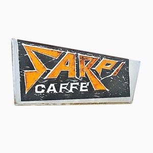 Letrero de café italiano Sarpi Mid-Century de plexiglás, años 50
