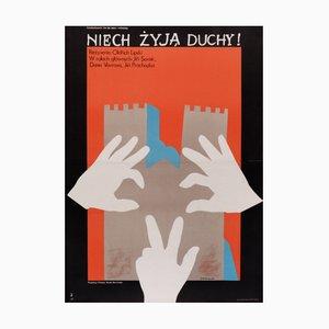 Póster polaco vintage de The Ghosts, 1977