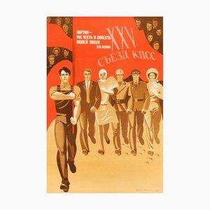 Kommunistisches Vintage Arbeiter-Poster, 1970er
