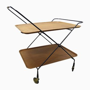 Teak and Tubular Steel Trolley by Jie Gantofta, 1960s