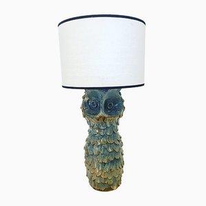 Lampe de Bureau Hibou Mid-Century en Céramique de Alluard, France, 1950s
