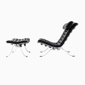 Ari Lounge Chair and Ottoman by Arne Norell for Arne Norell AB, 1960s