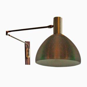 Lámpara de pared danesa Mid-Century con brazo ajustable