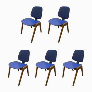 German Beech Dining Chairs from Thonet, 1950s, Set of 5