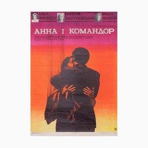 Sowjetisches Vintage Filmposter, 1975