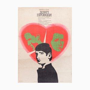 Russisches Vintage Junge & Herz Filmposter, 1980er