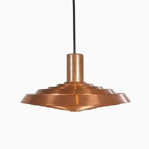 Moderne dänische Deckenlampe aus Kupfer von Poul Henningsen für Louis Poulsen, 1950er