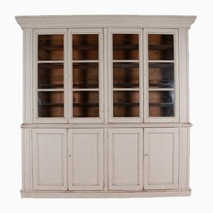 Antique Wooden Farmhouse Display Cabinet