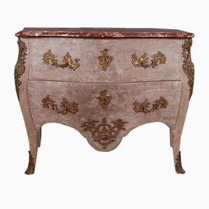 Antique Rococo Style French Wood & Marble Commode