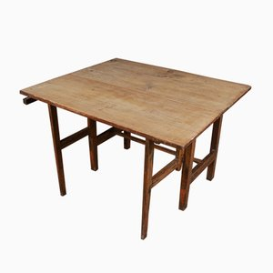 Antique Swedish Wooden Drop-Leaf Table