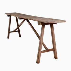 Table Tréteau Antique en Chêne, France