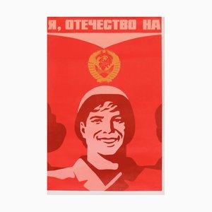 Póster de propaganda comunista de la Unión Soviética, 1979