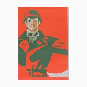 Póster comunista de propaganda de la Unión Soviética, 1979