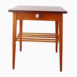 Mid-Century Nachttisch aus Holz mit Schublade, 1960er