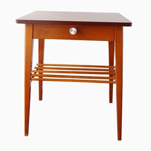 Mid-Century Wooden Nightstand with Drawer, 1960s