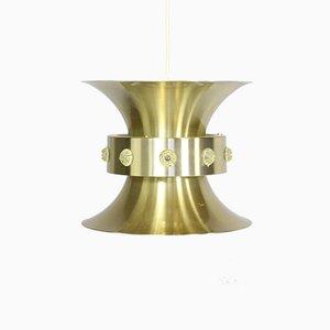 Lámpara colgante vintage de latón de Carl Thore para Granhaga Metallindustri, años 60