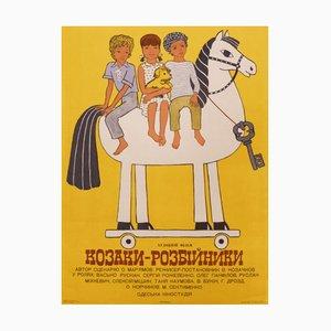 Póster ruso de la película The Robbers, años 80