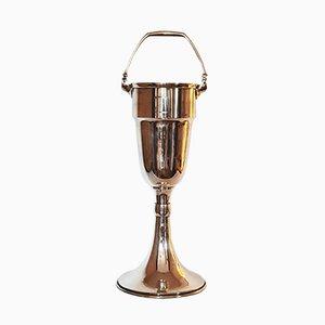 Secchiello per il ghiaccio Jugendstil antico in bronzo
