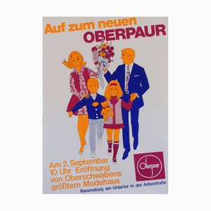 Mid-Century German Advertising Poster, 1960s