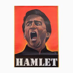 Poster teatrale Hamlet vintage di Paul Davis, anni '70