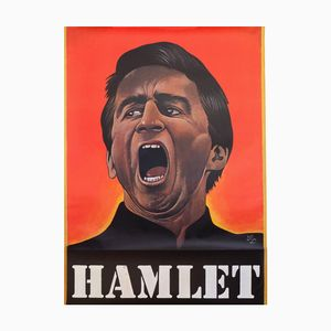 Vintage Hamlet Theatre Play Poster by Paul Davis, 1970s
