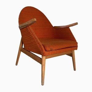 Mid-Century Beech Armchair, 1950s