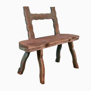 Antiker Beistelltisch aus Holz
