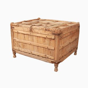 Coffre Antique en Teck Blanchi