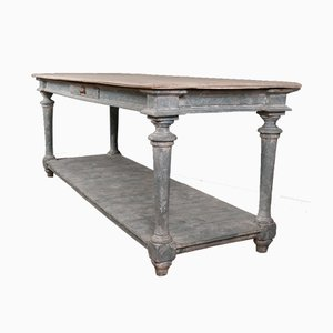 Antique French Wooden Drapers Table