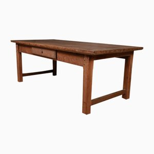 Mesa de centro francesa antigua de roble y madera