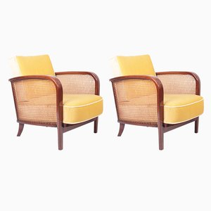 Modernist H-319 Lounge Chairs by Jindřich Halabala for UP Závody, 1930s, Set of 2