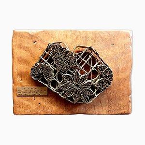 Plantilla de Batik de metal vintage