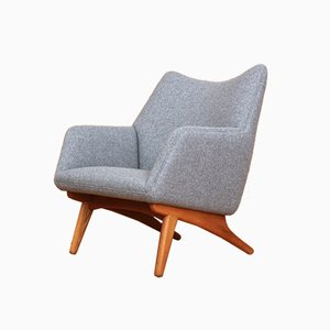 Danish Oak Lounge Chair by Illum Wikkelsø for A/S Mikael Laursen, 1950s
