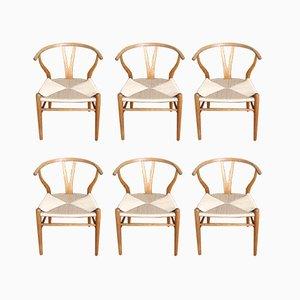 Dänische CH24 Wishbone Stühle aus Eiche von Hans J. Wegner für Carl Hansen & Søn, 1960er, 6er Set