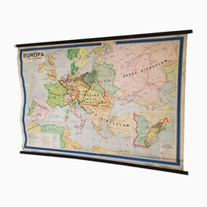 Carte Scolaire de l'Europe, Hongrie, 1964